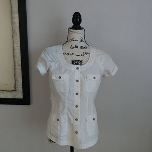 New York & Company Safari blouse